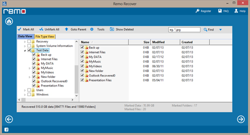 File Recovery Software for Memory Card - Recovered Data List