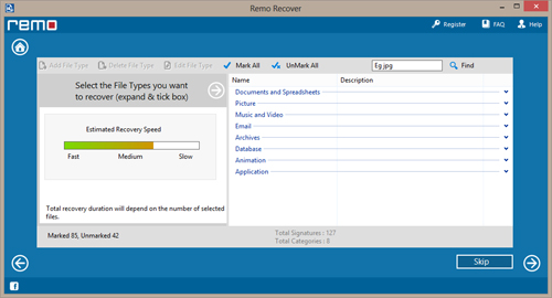 Recovery Software for Flash Drive - Advanced Search Option