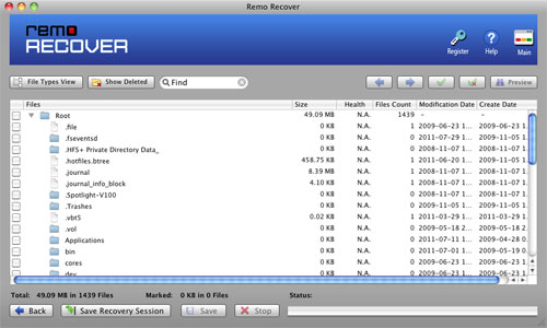 File Recovery Software for Mac - Recovered Data Tree Structured View